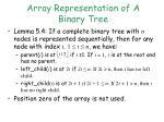 array representation of a binary tree