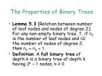 the properties of binary trees1