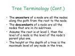 tree terminology cont