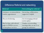 difference referral and networking