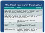 monitoring community mobilisation