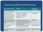 monitoring referral networking