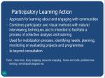 participatory learning action