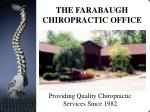 the farabaugh chiropractic office