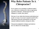 why refer patients to a chiropractor