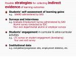 possible strategies for collecting indirect evidence of learning outcomes