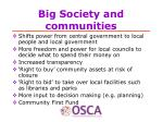 big society and communities