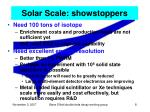 solar scale showstoppers