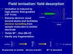 field ionisation field desorption1