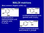 maldi matrices