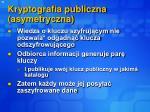kryptografia publiczna asymetryczna