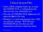 critical system files1
