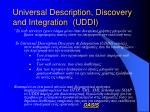 universal description discovery and integration uddi