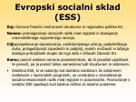 evropski socialni sklad ess