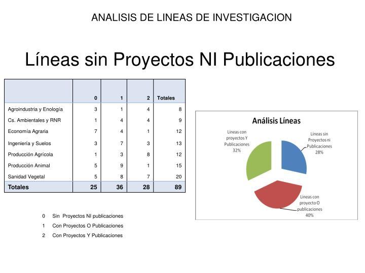 Análisis Líneas de investigación, enero 2012.