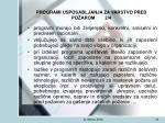 programi usposabljanja za varstvo pred po arom 2 4