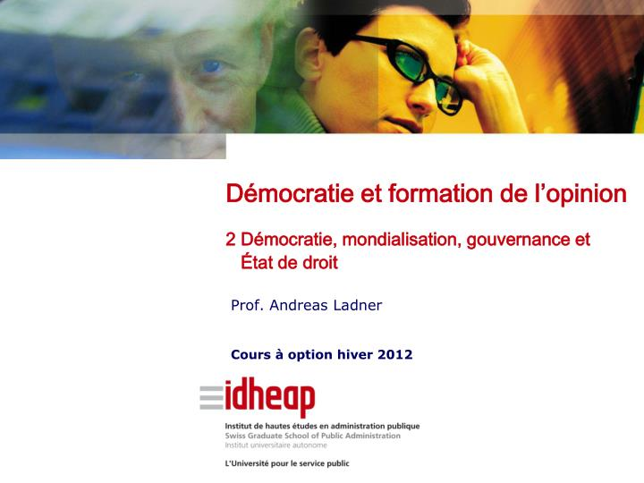 prof andreas ladner cours option hiver 2012 n.