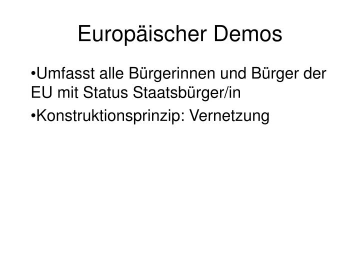 europ ischer demos n.