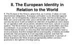 ii the european identity in relation to the world