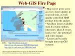 web gis fire page