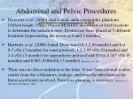 abdominal and pelvic procedures1