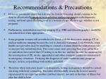recommendations precautions1