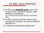 az sql nyelv jellemz i1