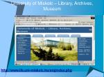 university of miskolc library archives museum