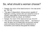 so what should a woman choose