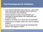 test development validation