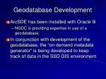 geodatabase development
