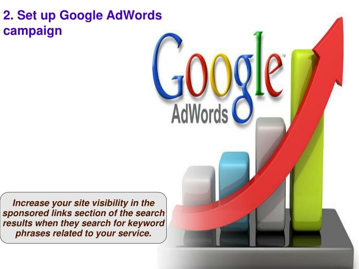 2. Set up Google AdWords campaign