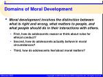 domains of moral development
