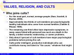 values religion and cults10