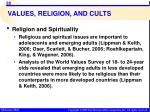 values religion and cults2