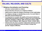 values religion and cults6