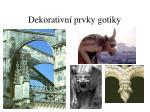 dekorativn prvky gotiky