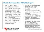 what is the status of the vrt white paper1