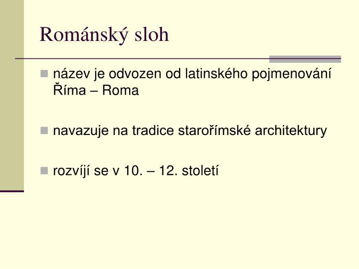 Rom nsk sloh
