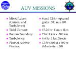 auv missions