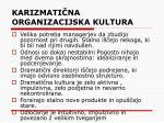 karizmati na organizacijska kultura