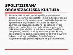 spolitizirana organizacijska kultura