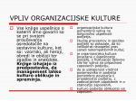 vpliv organizacijske kulture
