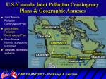 u s canada joint pollution contingency plans geographic annexes