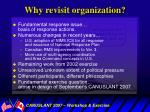 why revisit organization