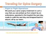 traveling for spine surgery