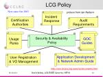 lcg policy