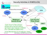 security activities in egee lcg