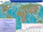 computing resources april 2005