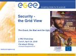 security the grid view